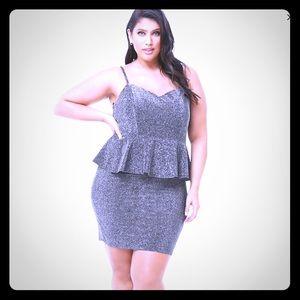NWT forever 21+ peplum mini dress